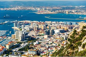 Urban area of Gibraltar seen from the rock