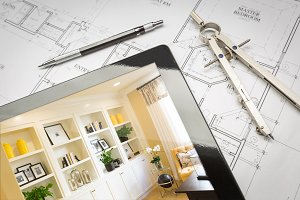 Tablet & Built-in, Blue Print, Tools