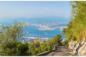 Road at the Rock of Gibraltar
