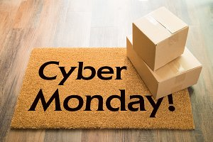 Cyber Monday Welcome Mat & Packages