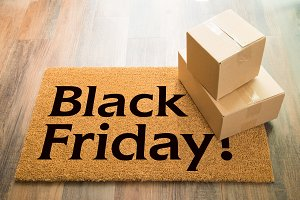 Black Friday Welcome Mat & Packages