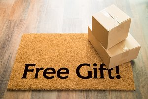 Free Gift Welcome Mat & Packages