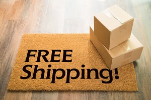 Free Shipping Welcome Mat & Packages