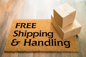 Free Shipping & Handling Welcome Mat