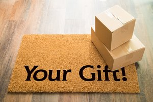 Your Gift Welcome Mat & Packages