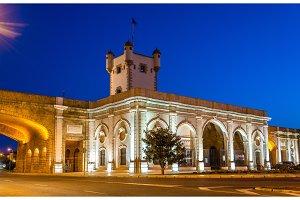 Puerta de Tierra, a city gate in Cadiz, Spain