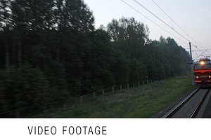 Trains meeting on high speed