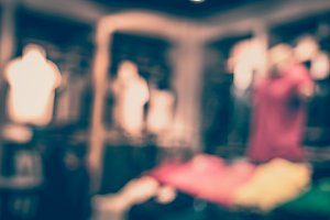 Blurred of fashion zone at shopping mall at women fashion zone.