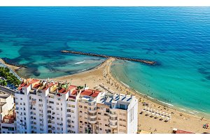 Postiguet Beach in Alicante, Spain