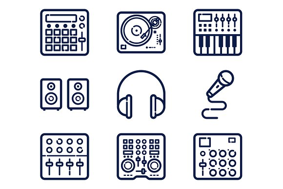 9 Music Production Icons