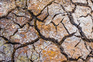 cracked brown clay ground, drought land background