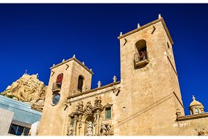 Basilica of Santa Maria, the oldest active church in Alicante, Spain