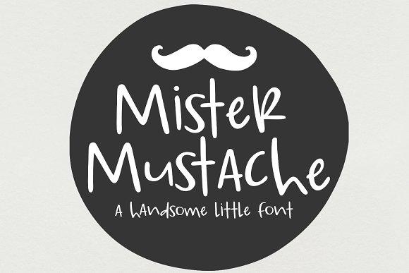 NEW Font Mister Mustache