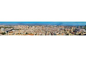 Panorama of Alicante from Santa Barbara Castle, Spain