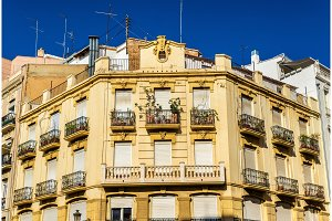 Beautiful buildings in the old town of Valencia - Spain