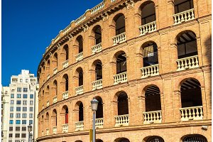 Plaza de Toros, a bullring in Valencia, Spain