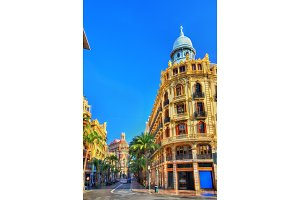 Beautiful buildings in the centre of Valencia - Spain