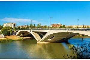 Puente de Santiago bridge in Zaragoza, Spain