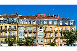Buildings in the old town of Irun - Spain