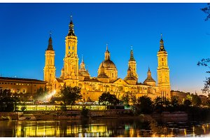 The Cathedral-Basilica of Nuestra Senora del Pilar in Zaragoza - Spain