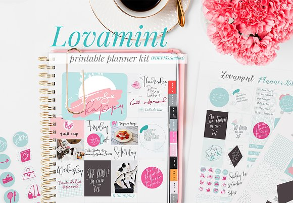 Lovamint Planner Cards Stickers