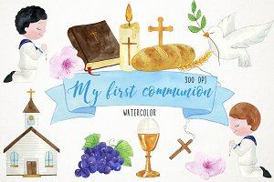 Boy First Communion Clipart