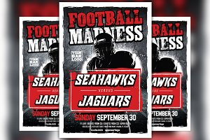 Football Madness Sports Flyer