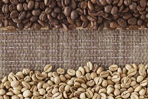 Coffee beans with background