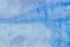 Blue violet abstract watercolor