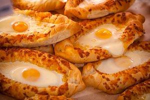 freshly baked khachapuri buns