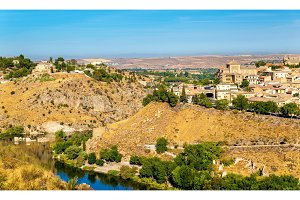 View of Toledo above the Tagus River in Spain