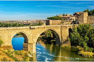 San Martin bridge in Toledo, Spain