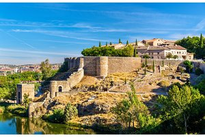 Fortifications around the medieval town Toledo in Spain