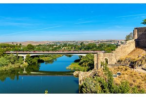 Puente de la Cava, a bridge in Toledo, Spain