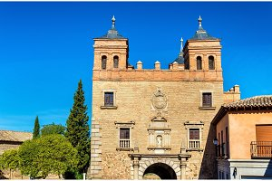 Puerta del Cambron, a city gate of Toledo, Spain