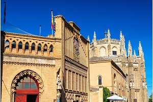 Monastery of San Juan de los Reyes in Toledo. Spain