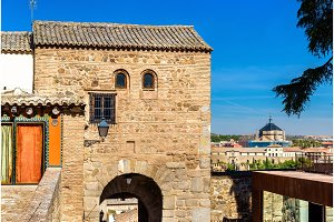 The Gate Bab al-Mardum, or Puerta de Valmardon, in Toledo, Spain