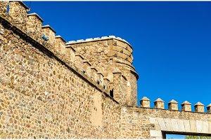 Details of Puerta de Bisagra Nueva Gate in Toledo, Spain