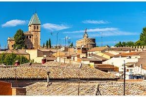 View of Puerta de Bisagra Nueva Gate in Toledo, Spain