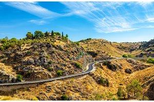 Road in near Toledo, Spain