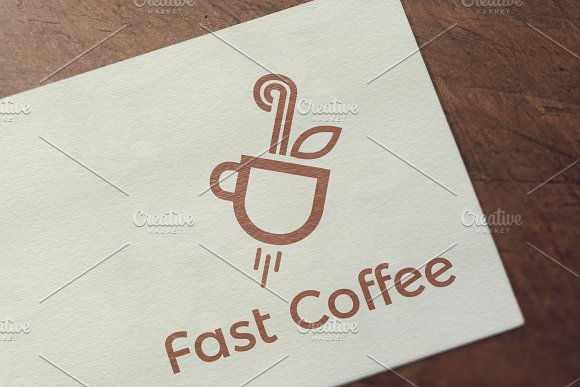 Fast Coffee Logo Template