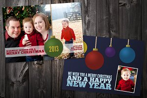 Ornament: 5x7 Xmas Card Template