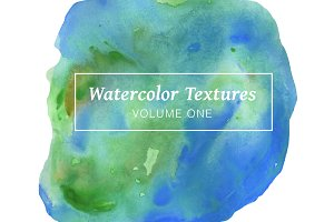 Blue Watercolor Textures - Volume 1