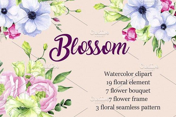 Watercolor Clipart Blossom
