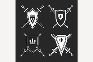 Medieval Shields Set