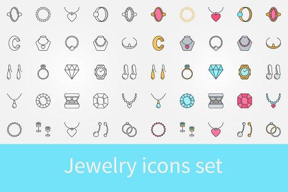 Jewelry Vector Icons Set