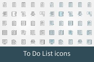 To Do List icons set