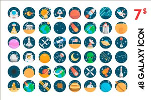 48 Galaxy Icon Pack - 7$