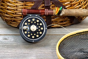 Fishing Gear with Creel