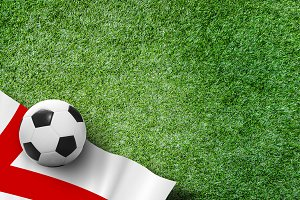 Soccer ball with England flag